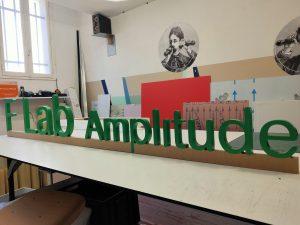 F-Lab Amplitude - Préparation de l'enseigne